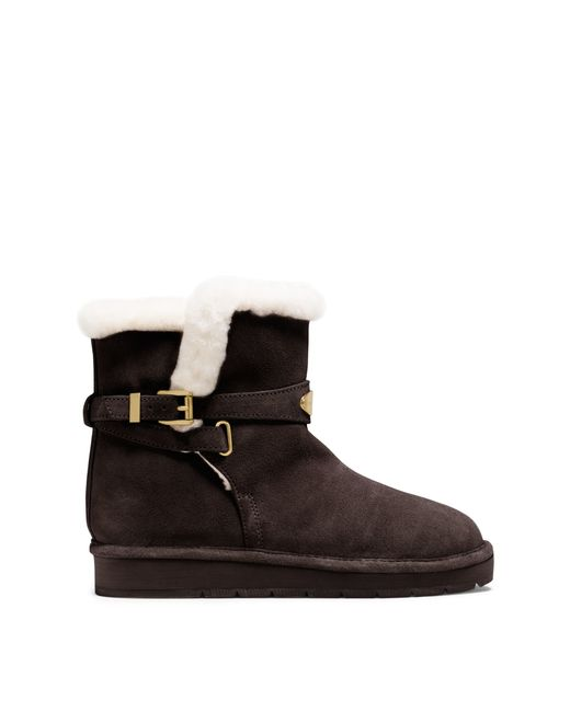 Michael Kors Sandy Suede Ankle Boot In Brown Coffee