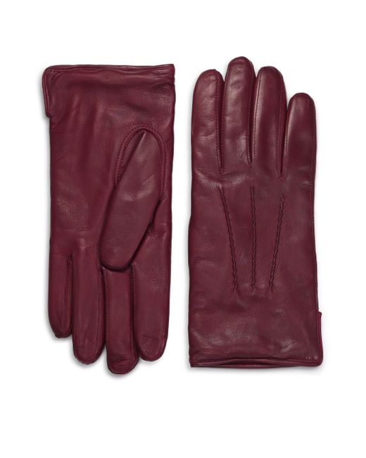 Saks Fifth Avenue | Red Leather Gloves for Men | Lyst
