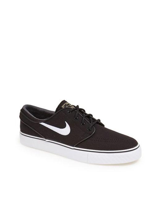Nike | Black 'zoom - Stefan Janoski Sb' Canvas Skate Shoe for Men | Lyst