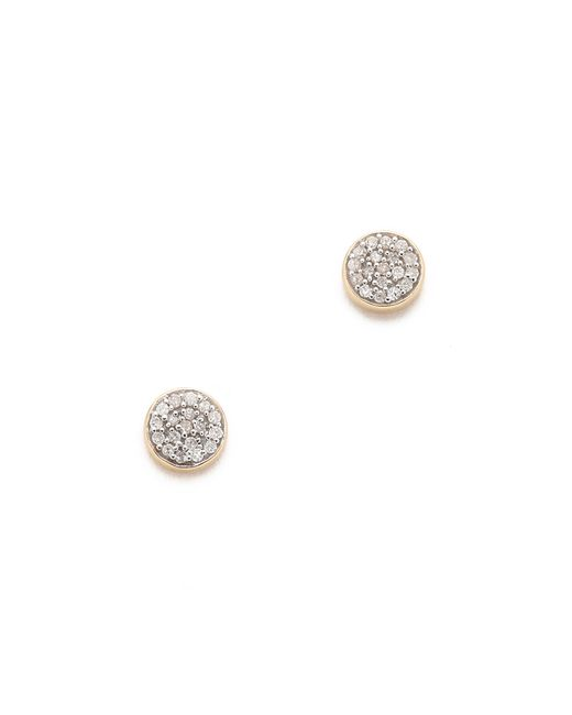 Adina Reyter   Metallic Solid Pave Disc Earrings   Lyst