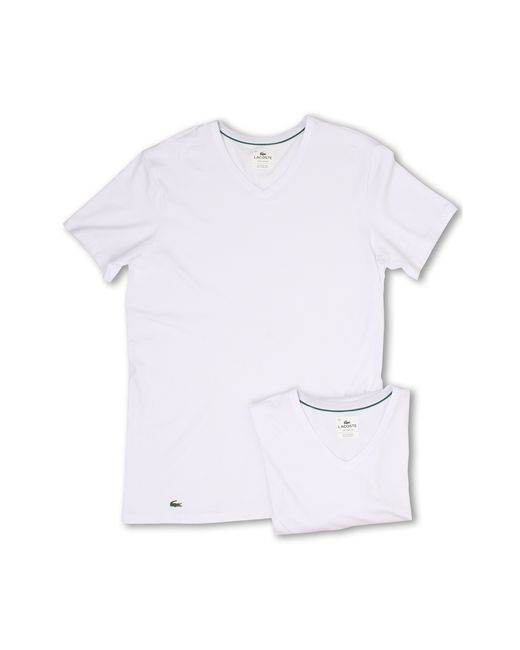 Lacoste | White Colours 2-pack V-neck Tee for Men | Lyst