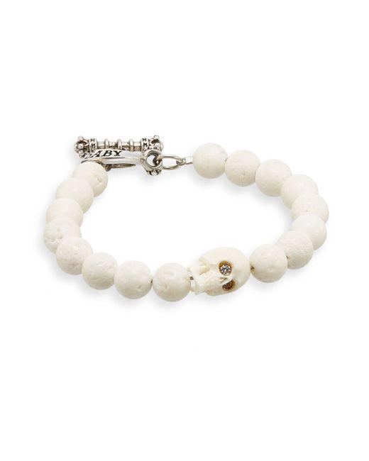 King Baby Studio   White Coral Skull Bracelet for Men   Lyst