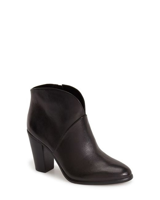 Vince Camuto | Black 'franell' Western Bootie | Lyst