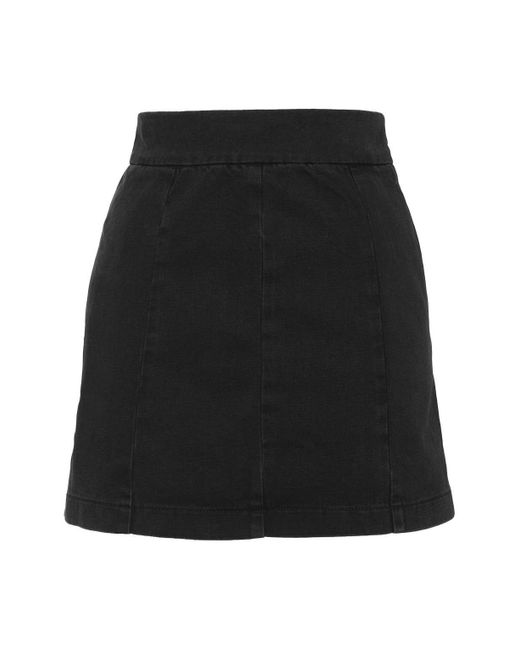 topshop moto clean seam a line skirt in black lyst