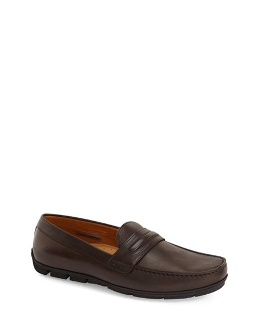 vince camuto donte driving shoe in brown for lyst