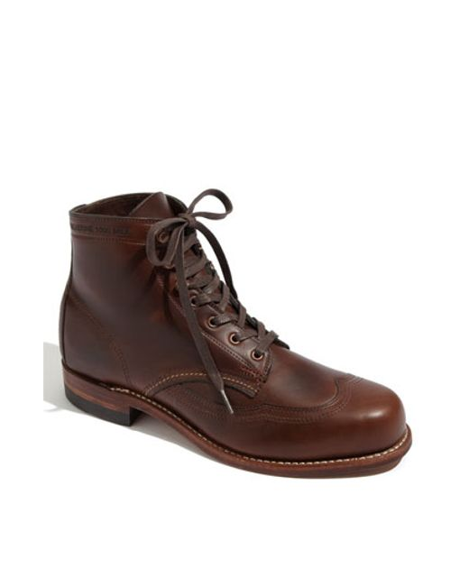 Wolverine | Brown '1000 Mile - Addison' Wingtip Boot for Men | Lyst