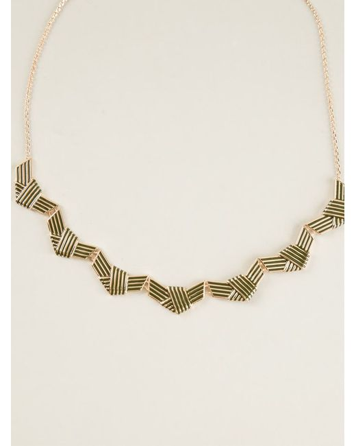 KENZO   Metallic Knotted Necklace   Lyst