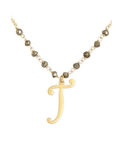 Argento Vivo | Metallic 'rondelle' Initial Pendant Necklace | Lyst