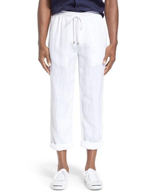 Vilebrequin | White 'pacha' Linen Pants for Men | Lyst