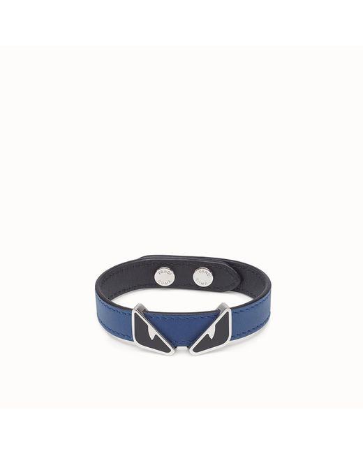Fendi - Blue Bracelet Bracelet for Men - Lyst