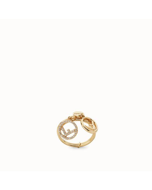 Fendi - Metallic Ring Ring - Lyst