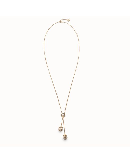 Fendi - Metallic Fruit Necklace Fruit Necklace - Lyst