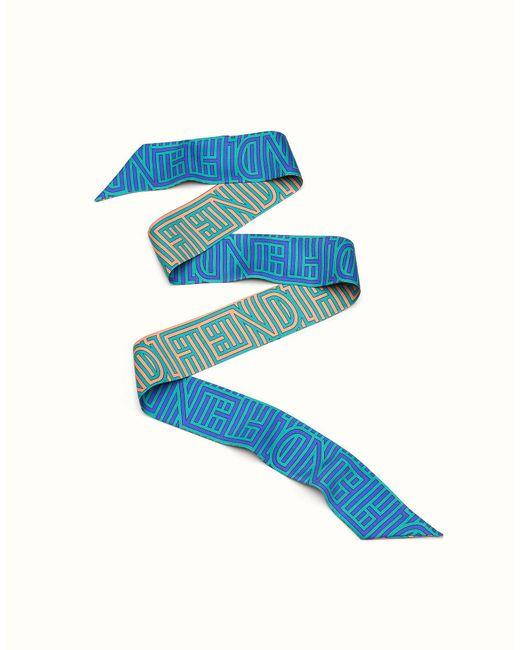 Fendi   Blue Optical Wrappy Optical Wrappy   Lyst