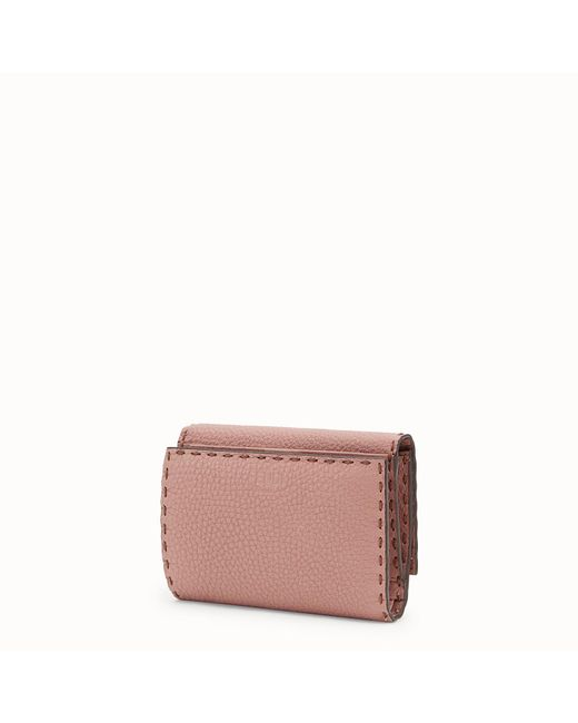 a586f2830e0f Lyst - Fendi Peekaboo Selleria Wallet in Pink - Save 9%