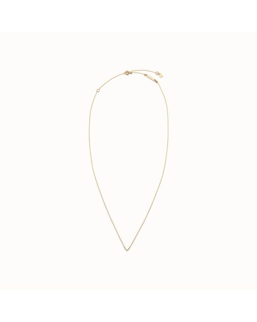 Fendi - Metallic Necklace Necklace - Lyst