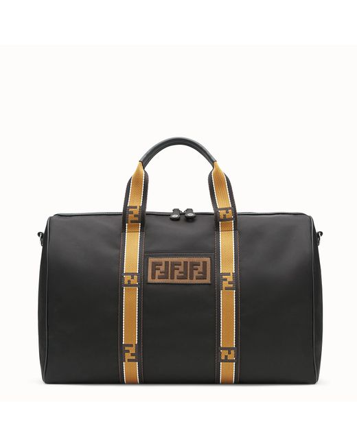 Fendi - Black Logo Duffle Bag for Men - Lyst