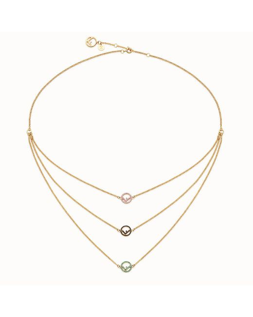 Fendi - Metallic F Is Necklace - Lyst