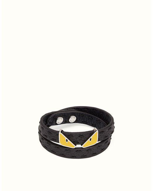 Fendi - Black Double Tour Bracelet Double Tour Bracelet for Men - Lyst