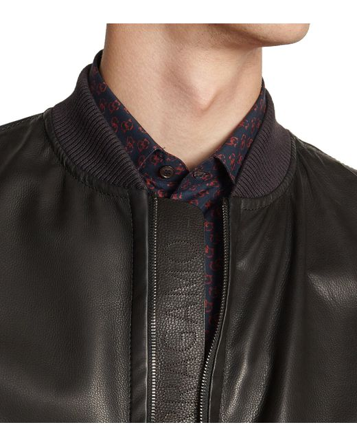 9f3114a02 Lyst - Ferragamo Bomber Jacket With Leather Insert in Blue for Men