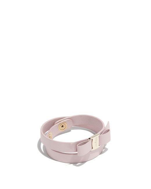 Ferragamo - Pink Vara Bow Bracelet - Lyst