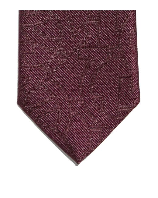 Ferragamo Red Gancini Jacquard Tie for men