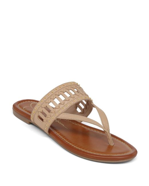 Jessica Simpson | Brown Ridgely Leather Sandals | Lyst