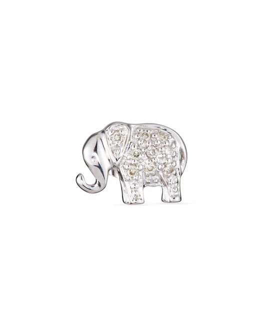 Sydney Evan | Metallic Elephant Diamond Single Stud Earring | Lyst