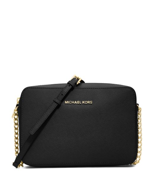 MICHAEL Michael Kors | Black Jet Set Travel Saffiano Crossbody Bag | Lyst