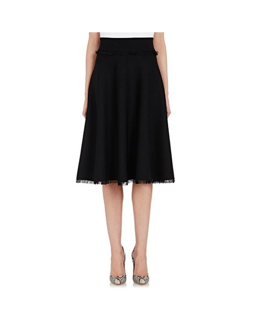 a l c s compact knit a line skirt in black lyst