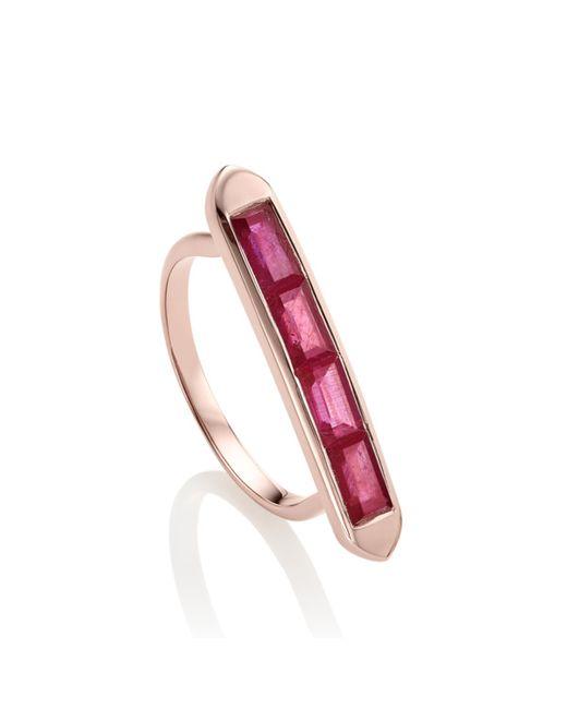 Monica Vinader | Pink Baja Precious Skinny Ring | Lyst