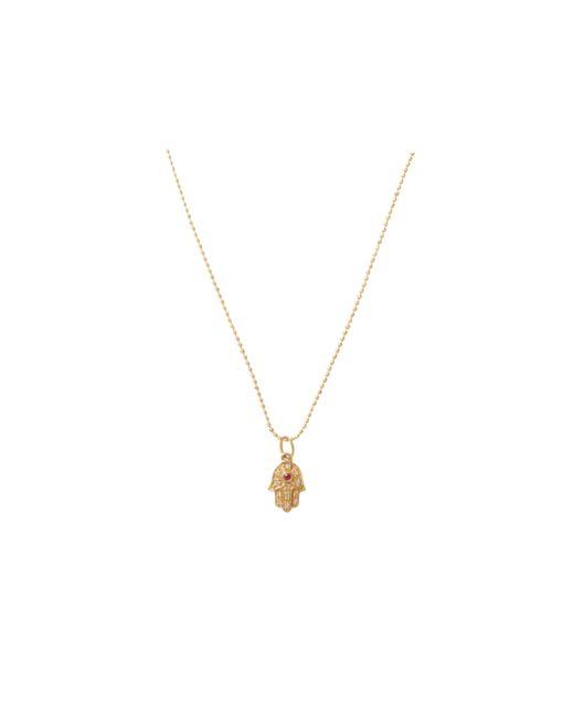 Sydney Evan | Metallic Hamsa Hand Necklace | Lyst