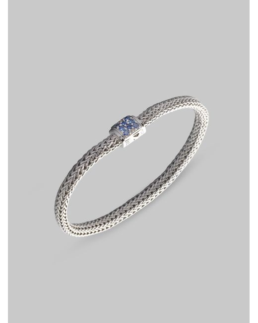 John Hardy | Metallic Classic Chain Sapphire & Sterling Silver Extra-small Bracelet | Lyst