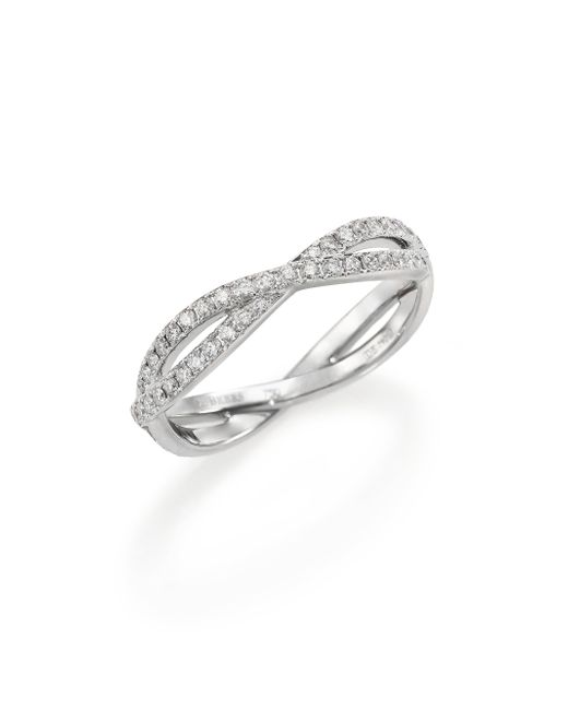 De Beers | Metallic Infinity Diamond & 18k White Gold Full Band Ring | Lyst