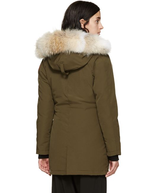 Canada Goose down outlet fake - Canada goose Victoria Fur-hood Parka Jacket in Black (MILITARY ...