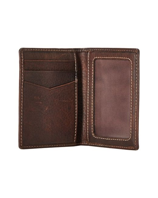 Fossil | Brown Lincoln Card Case Bifold for Men | Lyst