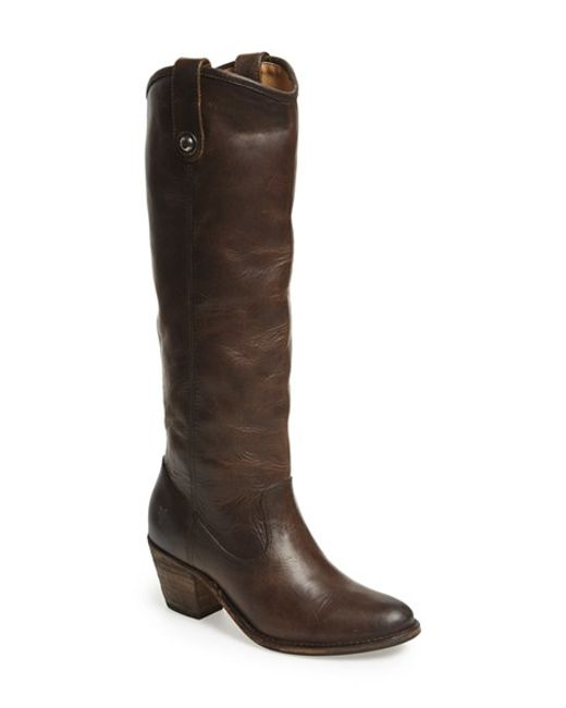 Frye | Gray 'jackie Button' Tall Boot | Lyst