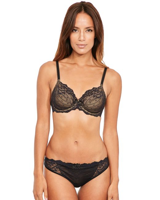 Chantelle - Black Rive Gauche 3 Section Full Cup Bra - Lyst