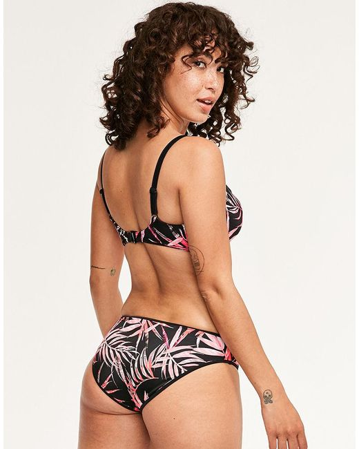 1b4bb64893d25 ... Freya - Black Sunset Palm Underwired Sweetheart Padded Bikini Top - Lyst