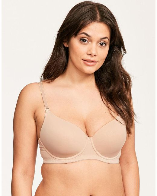 388597a85c9df ... Hotmilk - Natural Forever Yours Flexi Wire Multiway Nursing Bra - Lyst  ...