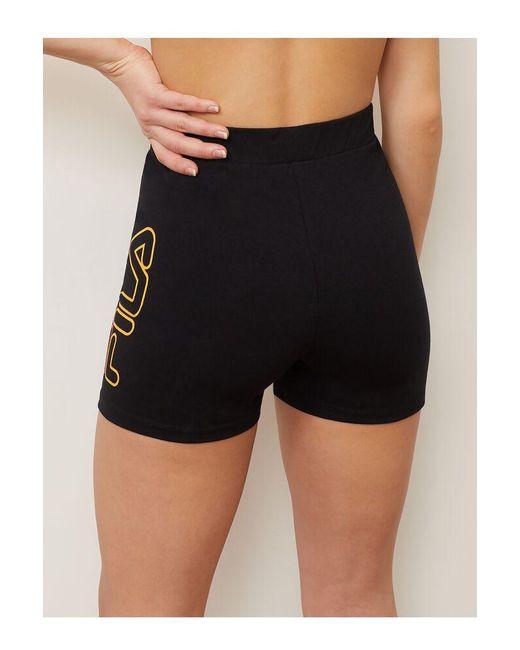 8b71812ed469 ... Fila - Black Beatriz High Waist Bike Shorts - Lyst
