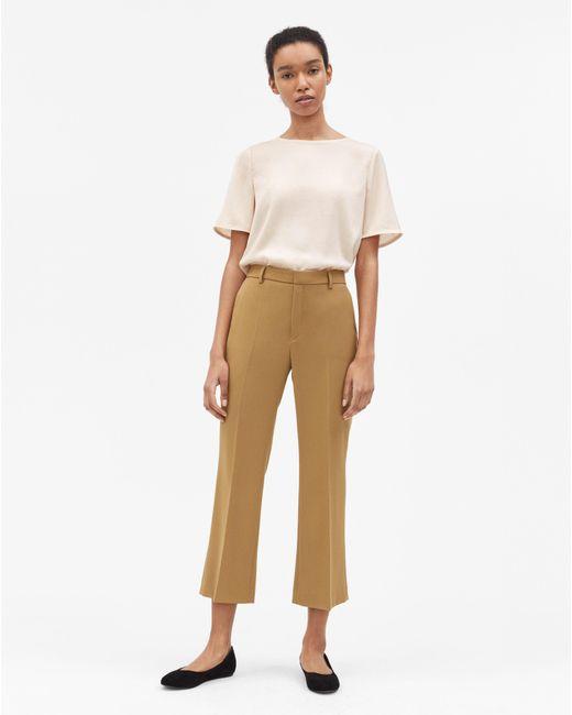 Filippa K - Natural Hudson Twill Cropped Trousers Kelp - Lyst