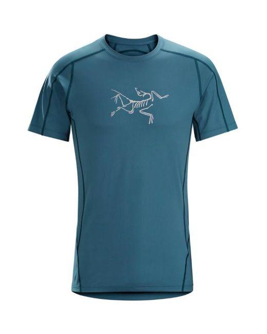 Arc'teryx - Blue Men Phasic Evolution Crew Short Sleeves T-shirt, Cosmic for Men - Lyst