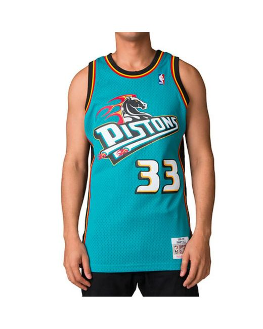 95b76686fd6 ... coupon for mitchell ness blue grant hill swingman jersey detroit pistons  teal for men 3662e b8c05
