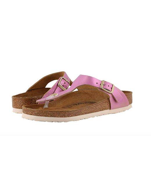 935e2daed56 Lyst - Birkenstock Gizeh Leather Regualr Fit Sandal