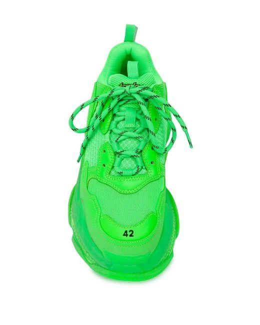 4b115c4560a6 Lyst - Balenciaga Triple S Clear Sole Trainers in Green - Save 44%