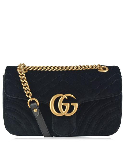 ecd4bbe60491 Gucci - Multicolor Gg Marmont Velvet Shoulder Bag - Lyst ...
