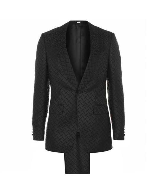 Burberry Black Logo Jacquard Suit for men