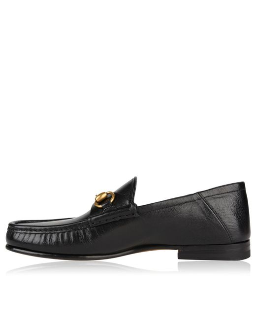 f29a90b64e0 Gucci Easy Roos Loafers in Black for Men - Save 6% - Lyst