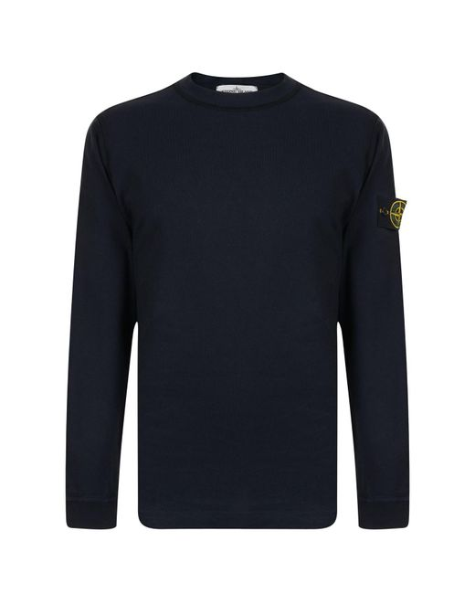 Stone Island - Blue Badge Sleeve Sweatshirt for Men - Lyst