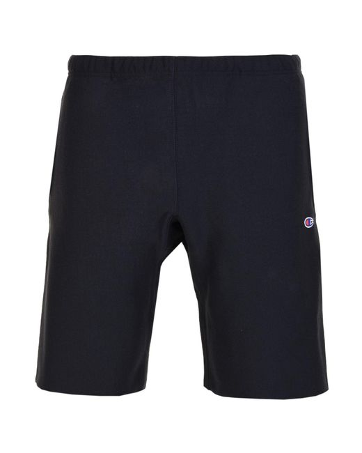 Champion - Blue Logo Shorts for Men - Lyst